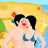 Beach Side Kiss