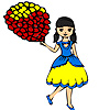 Colorful balloons and gir…