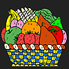 Colorful fruits in the ta…