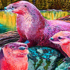 Cute otters family puzzle