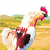 Farm animals in garden pu…
