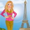 Girl visits Paris