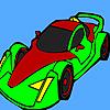 Grand Racing car coloring