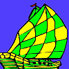 Mini sea ship coloring