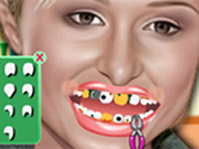 Paris Hilton at Dentist