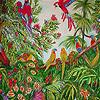 Parrots in the jungle sli…