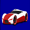 Red concept racing car co…