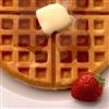 Waffle And strawberry Sli…